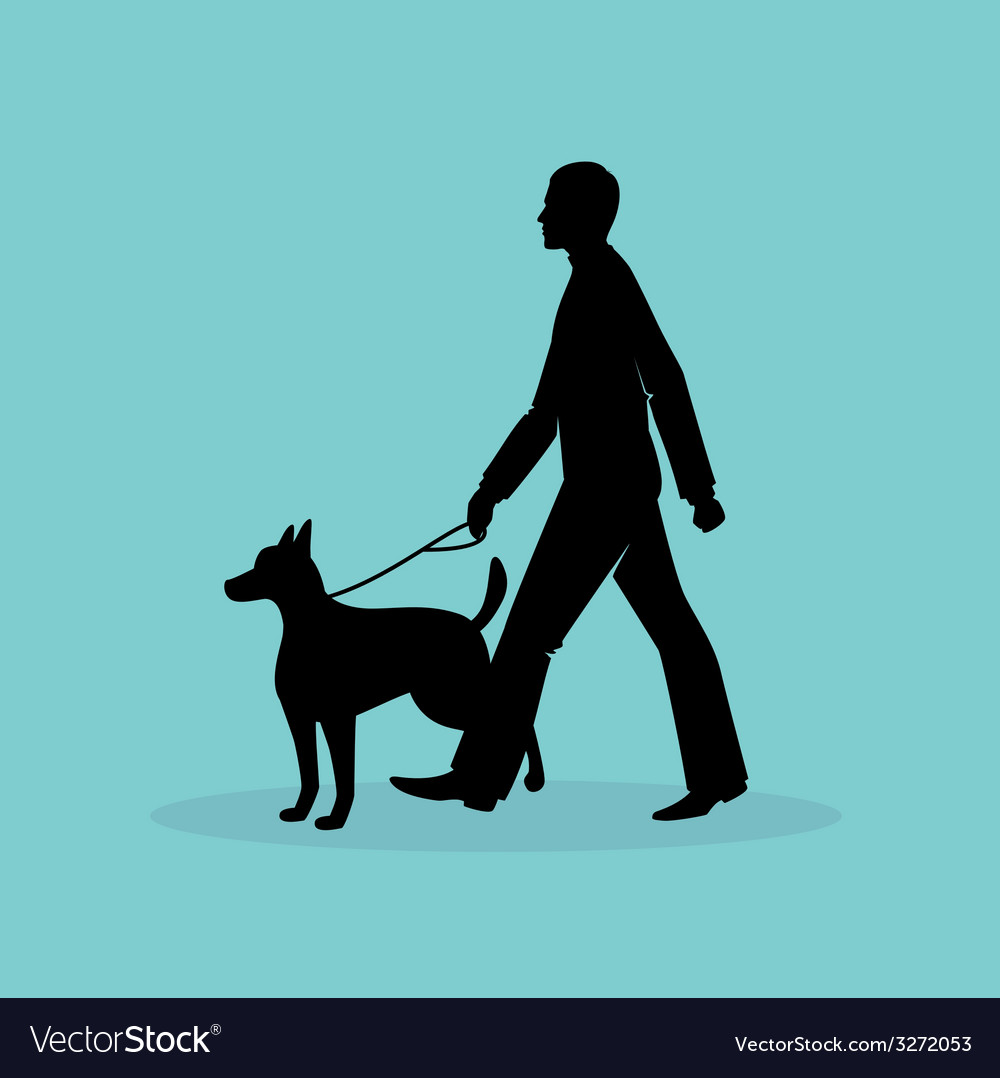 Blind man silhouette image vector image