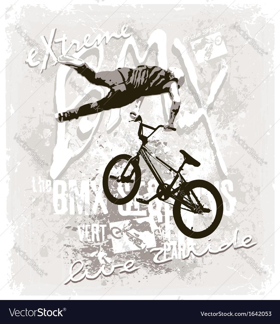 bmx extreme free style royalty free vector image