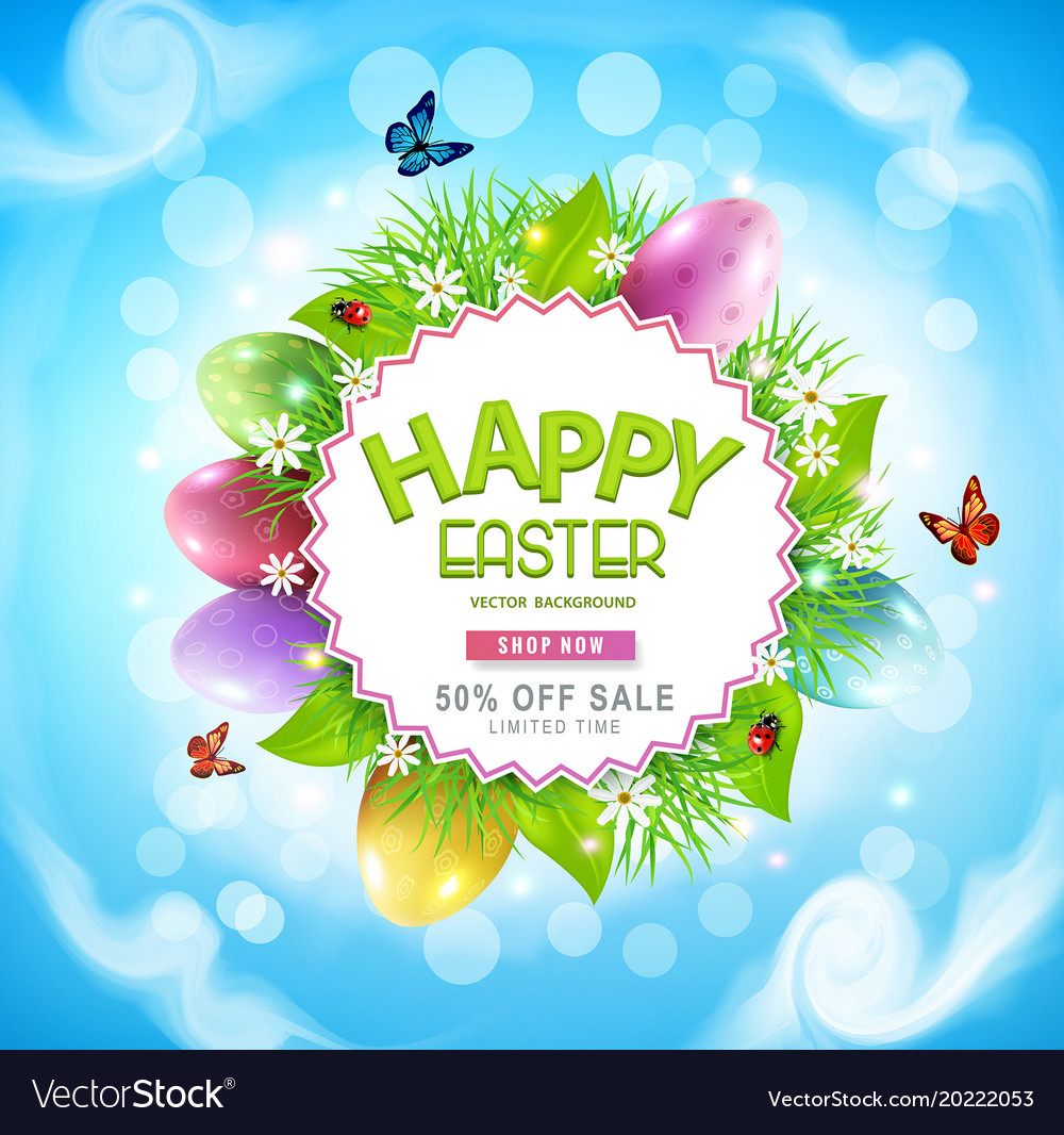 Easter sale banner advertising