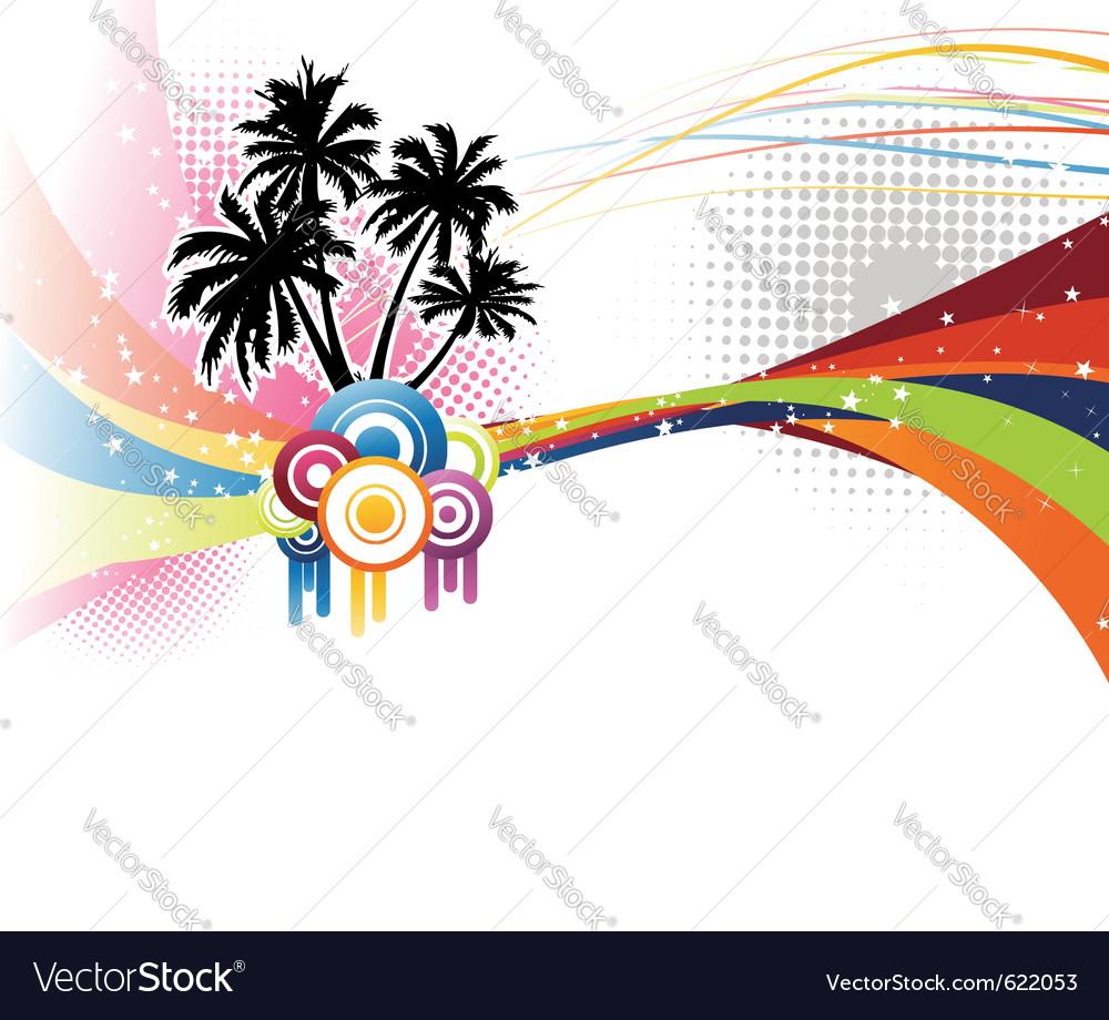Music colorful rainbow