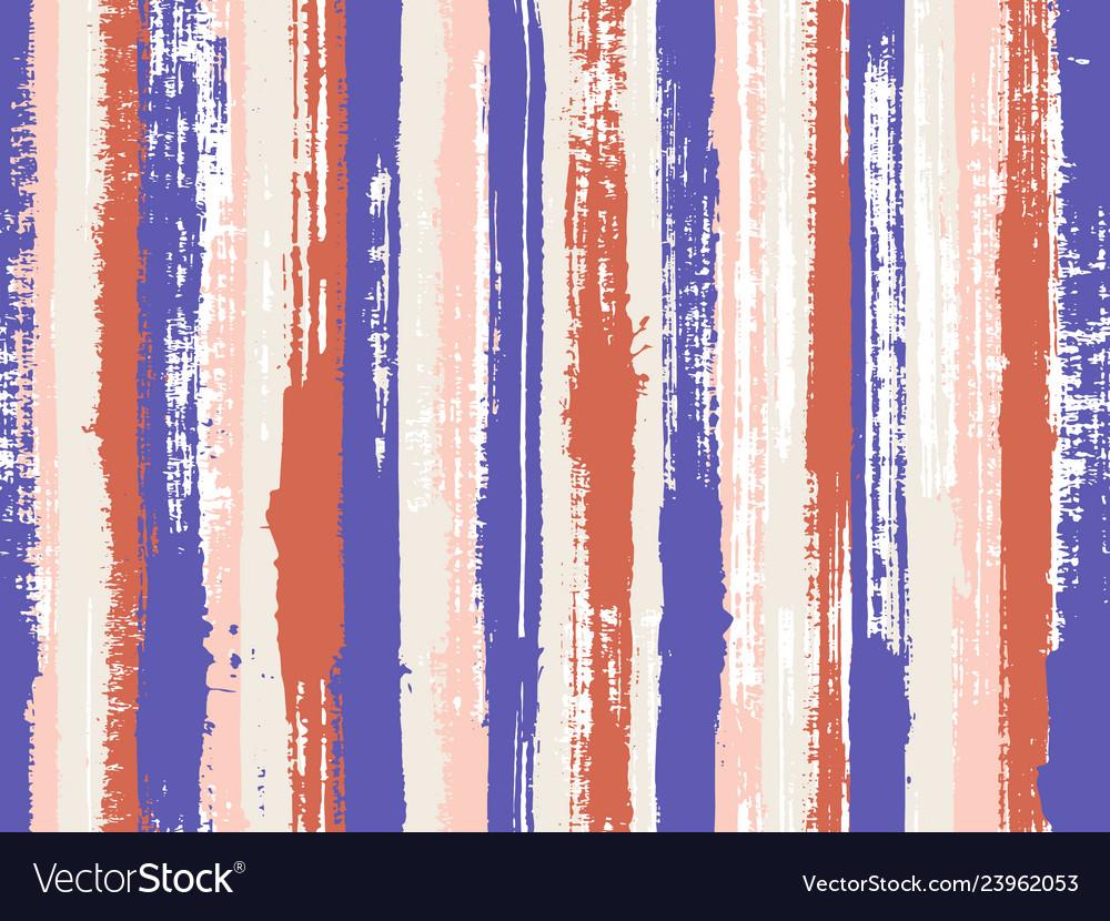 Paintbrush artistic lines fabric seamless print