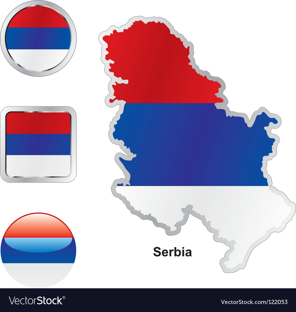 Serbia vector image