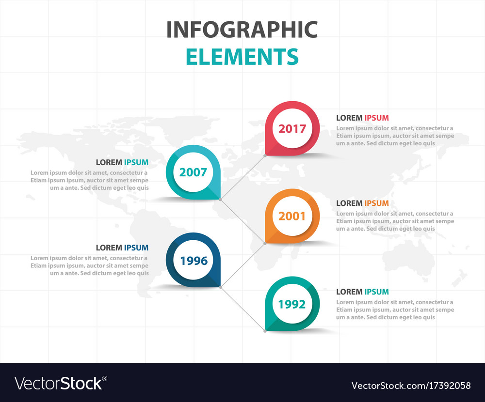 Abstract colorful business timeline infographics