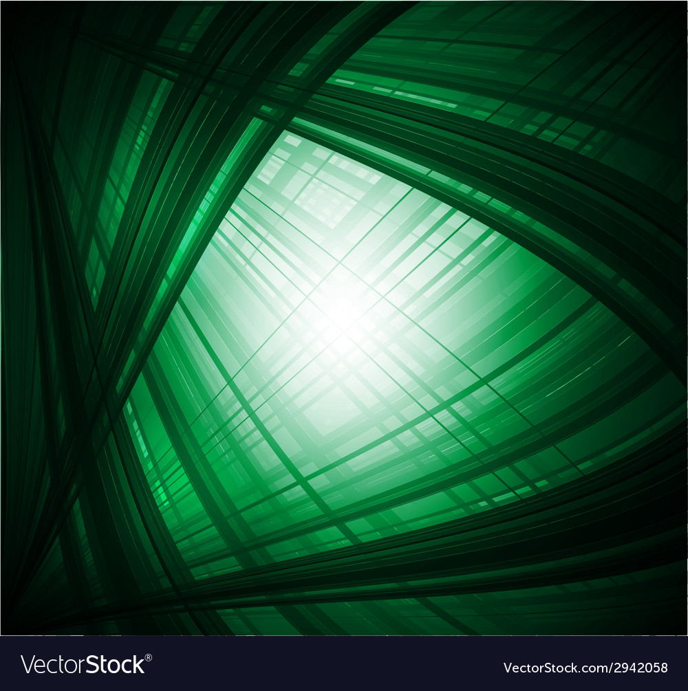 Abstract virtual with black green background