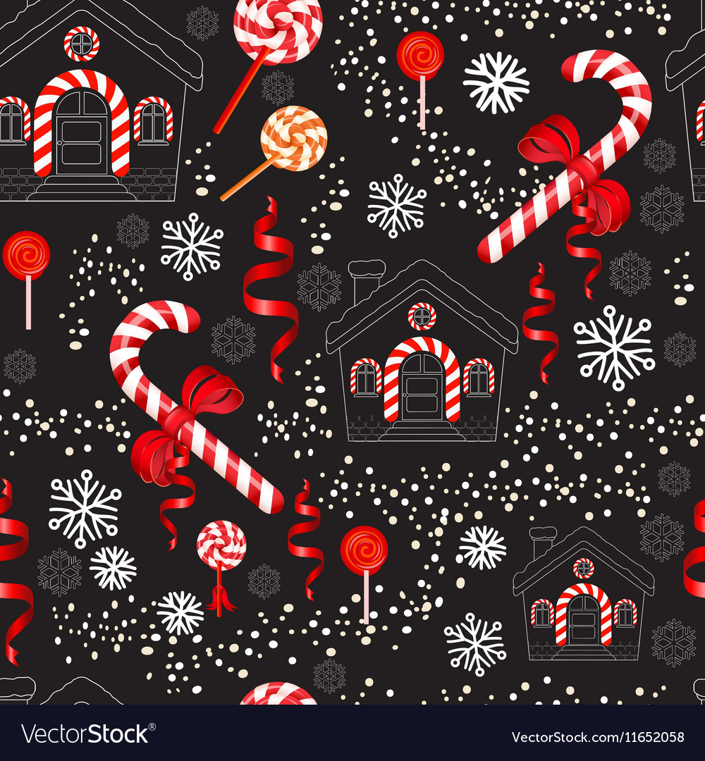 Christmas Candy Cane with red bow lollipop house