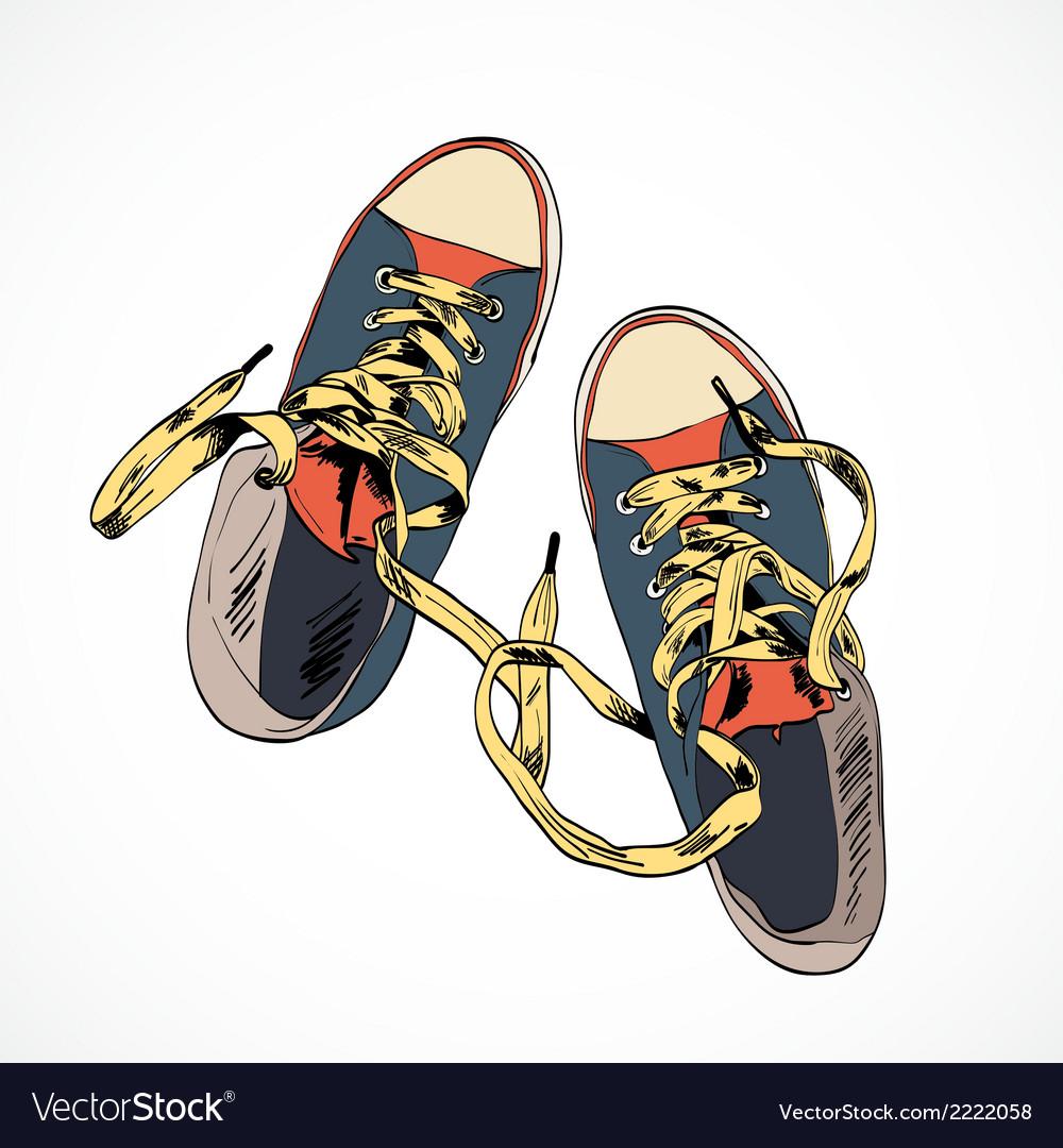 Colored gumshoes sketch