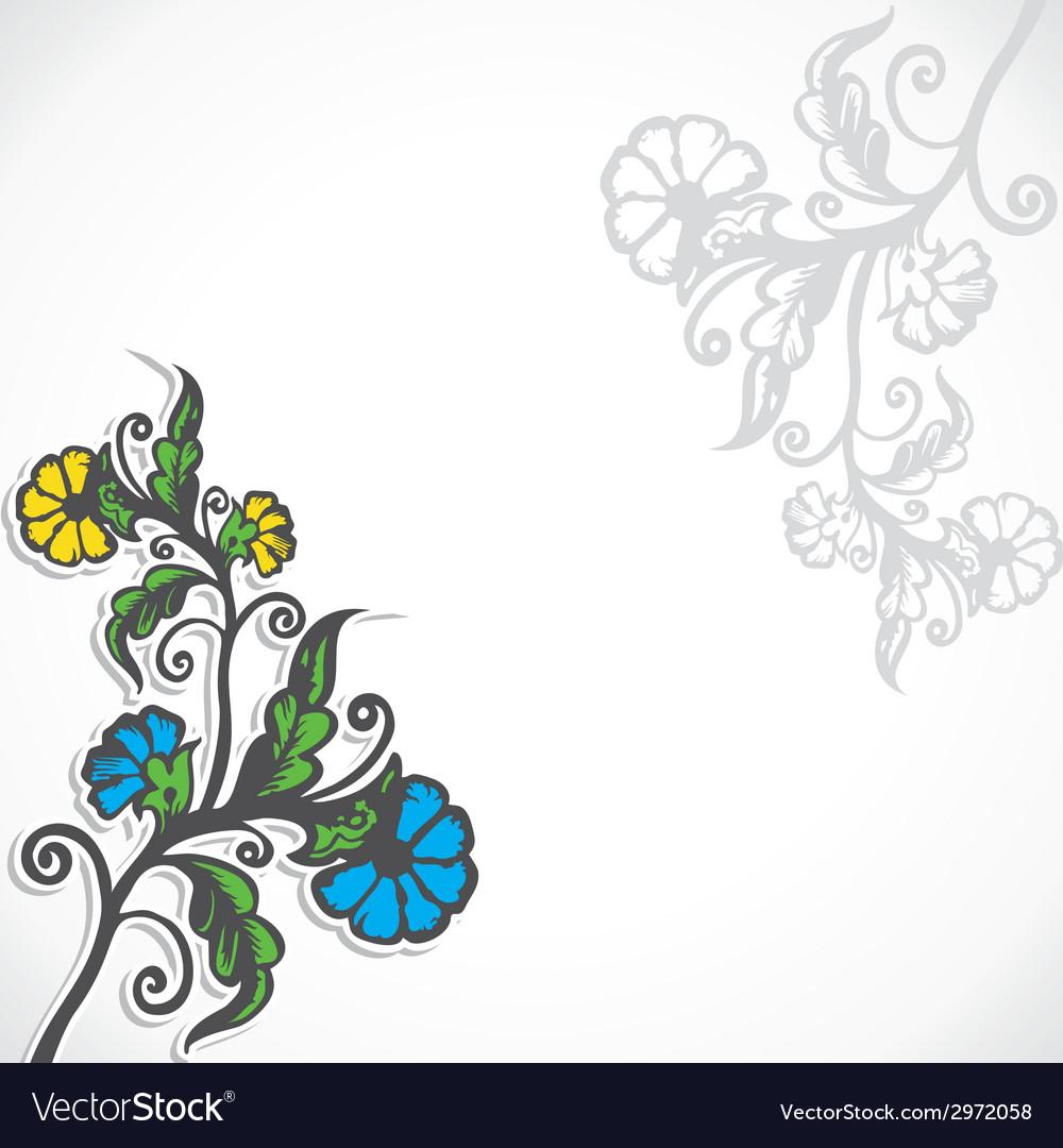 Creative retro flower stock