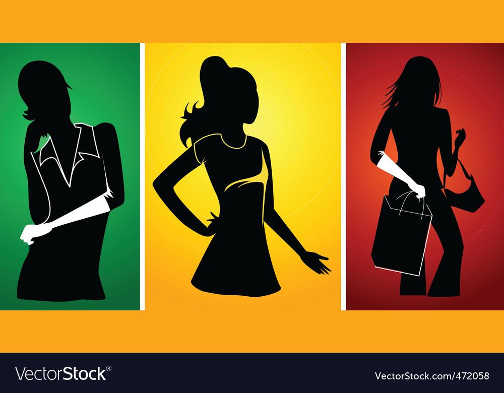 Ladies silhouette