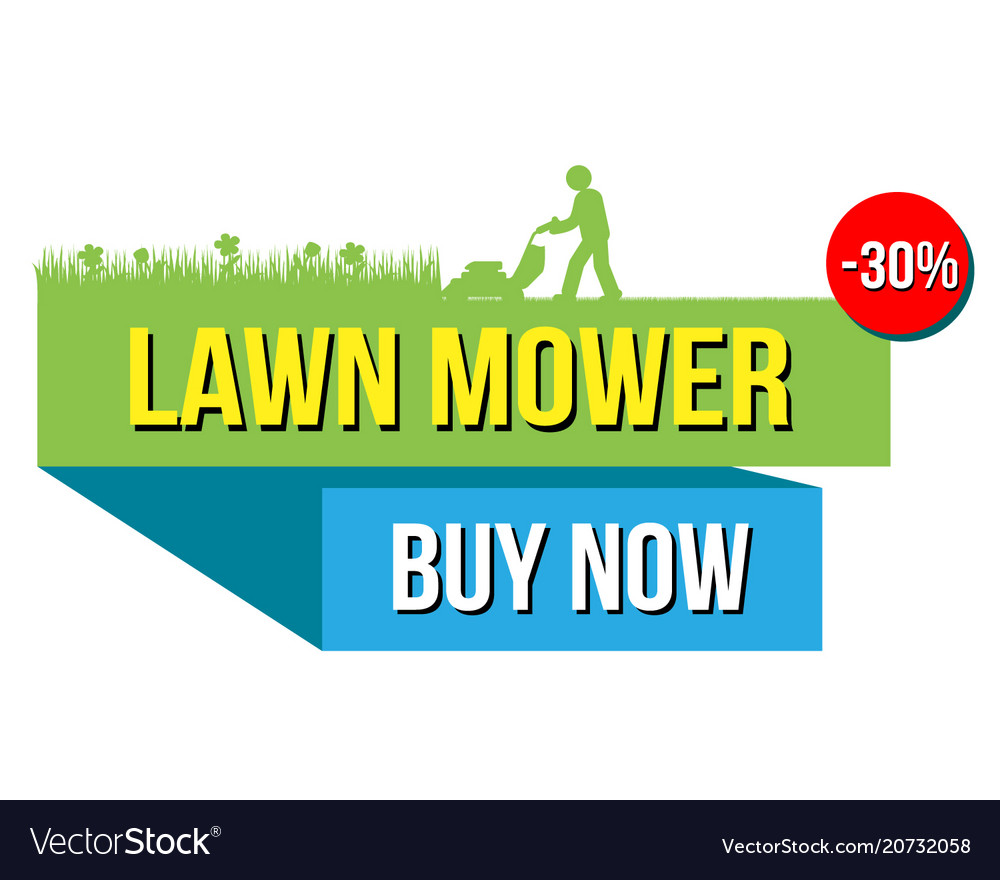 Lawn mover sale banner