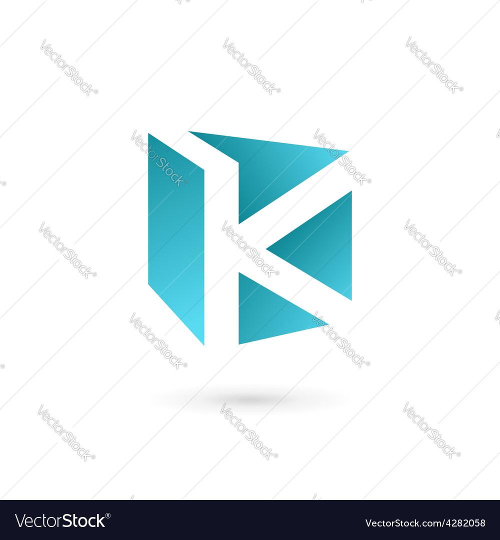 Letter k book logo icon design template elements vector image spiritdancerdesigns Images