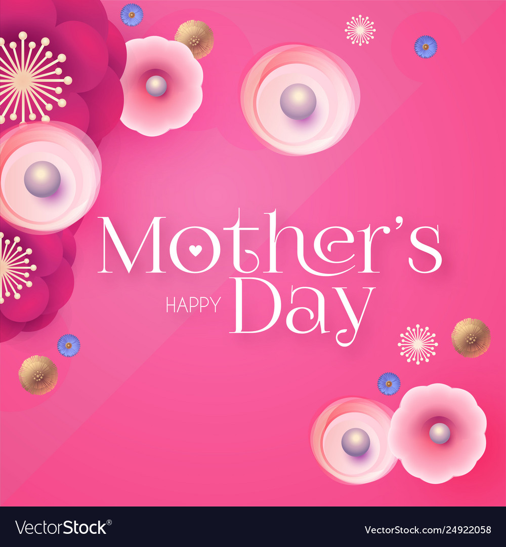 Mother s day elegant greeting card with flowers