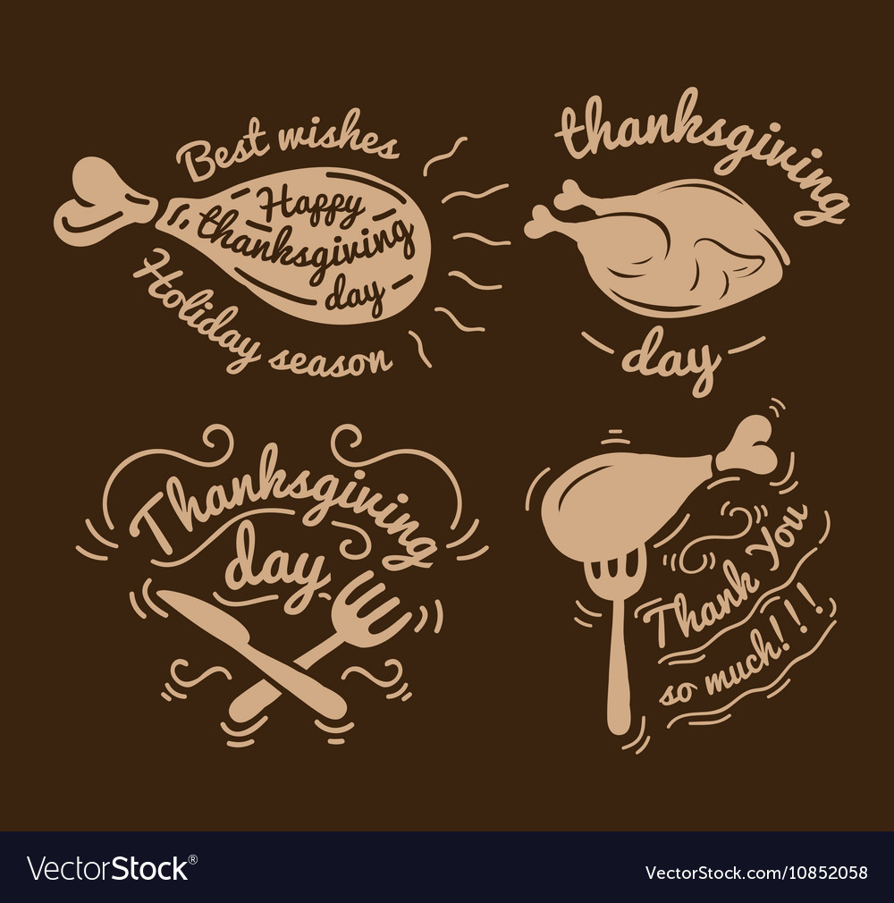 Set labels design template to thanksgiving day