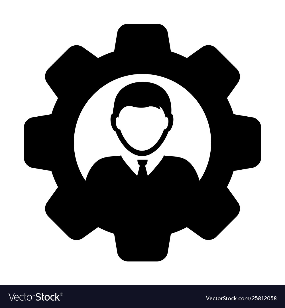 Settings icon male user person profile avatar