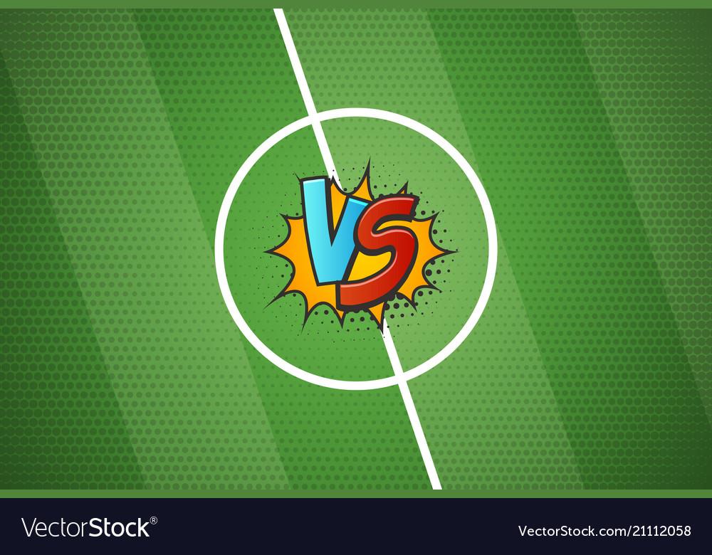Soccer championship versus battle cartoon