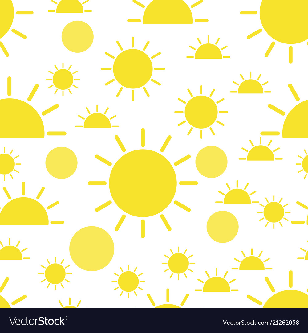 Sun seamless pattern background business flat