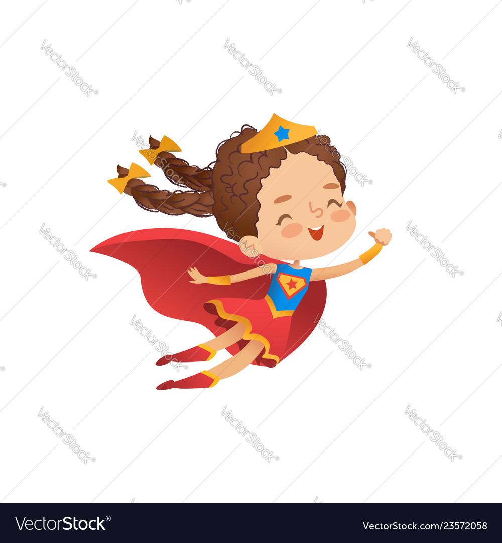 Superheroine cute girl costume