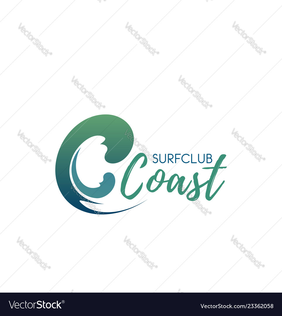 Surfing club icon