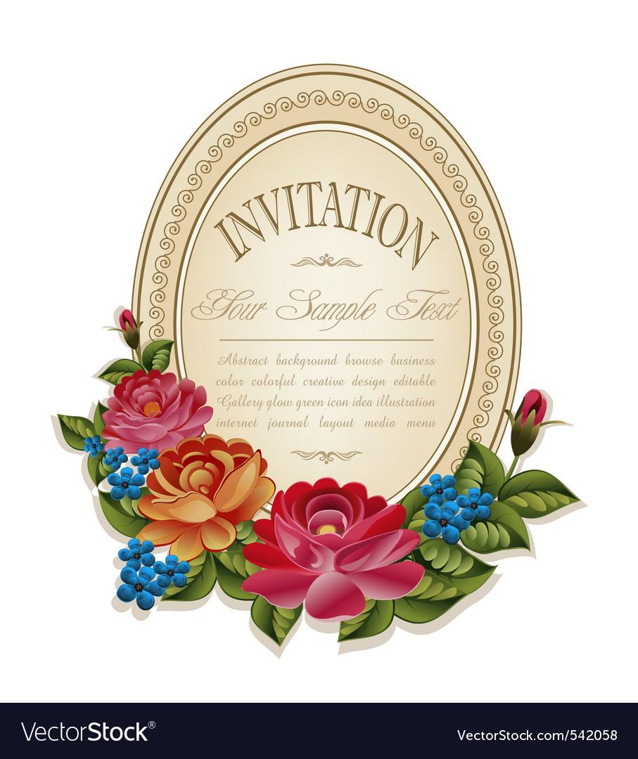 Vintage invitation frame