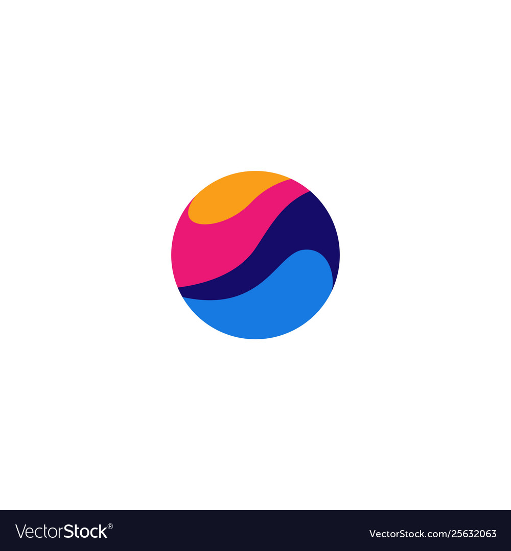 Abstract circle wave logo icon