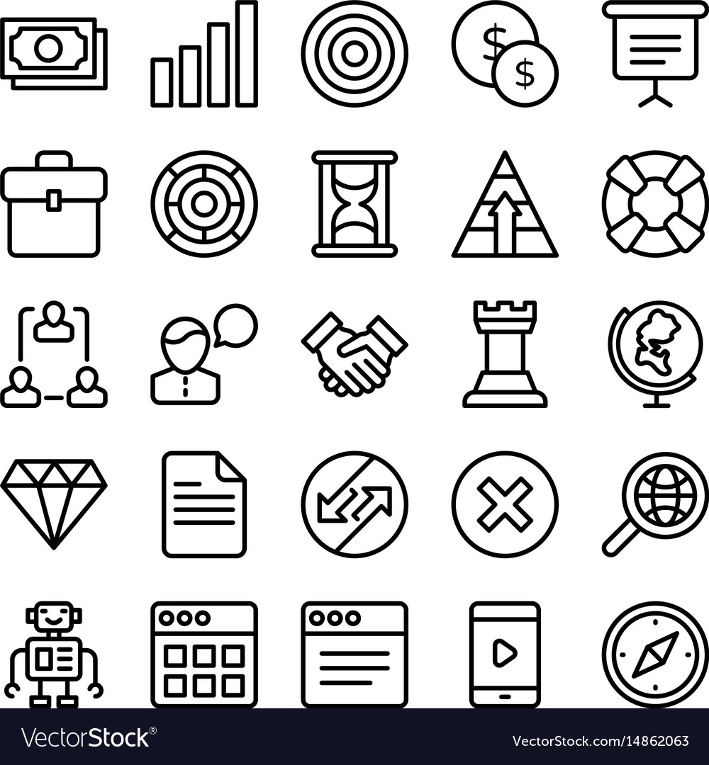 Business and office line icons 2
