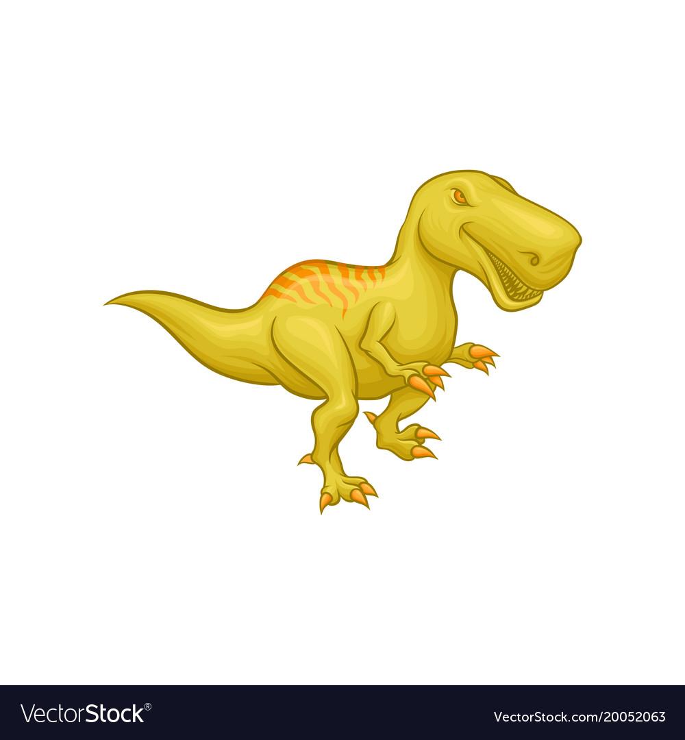 Cartoon tyrannosaurus rex prehistoric reptile