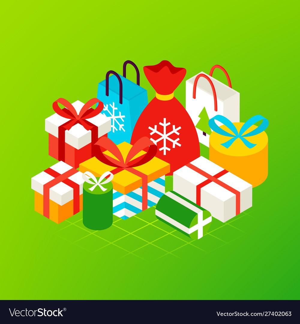 Christmas presents concept