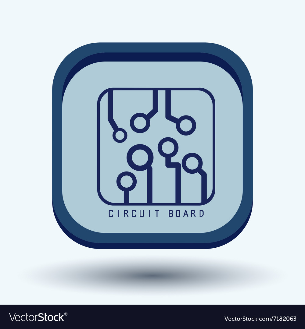 Circuit Board Sign Icon Technology Scheme Symbol Vector Image Logo