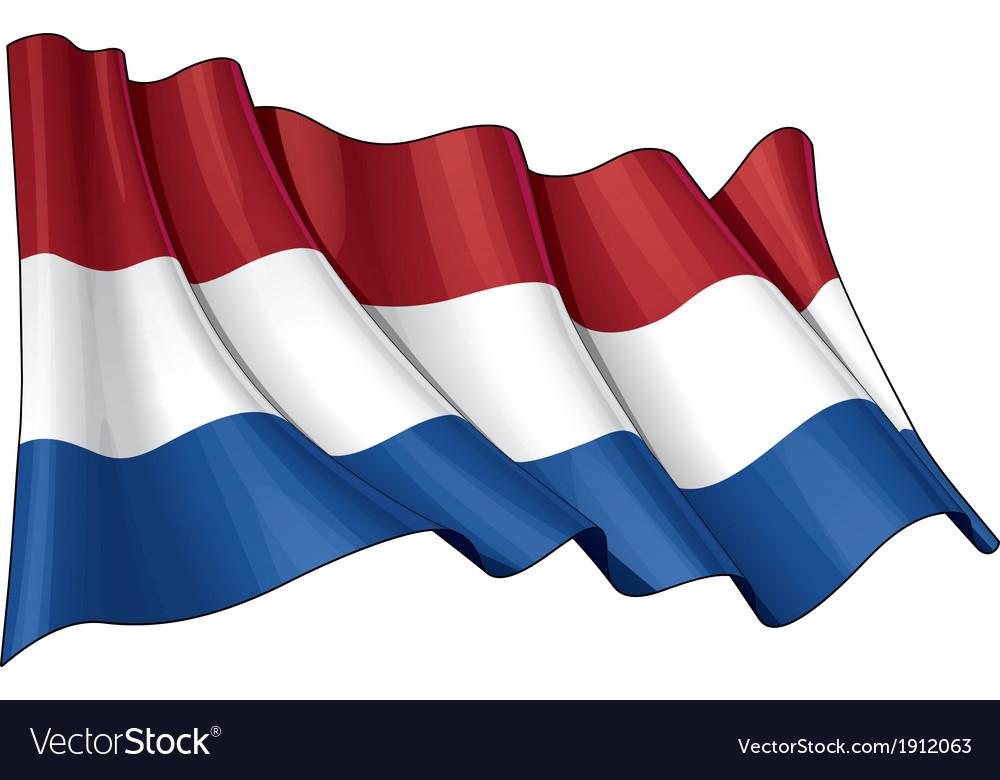 Netherlands Flag vector image