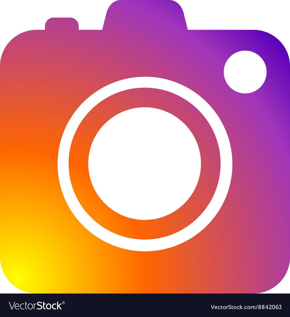 Photo camera icon flat web sign symbol logo label