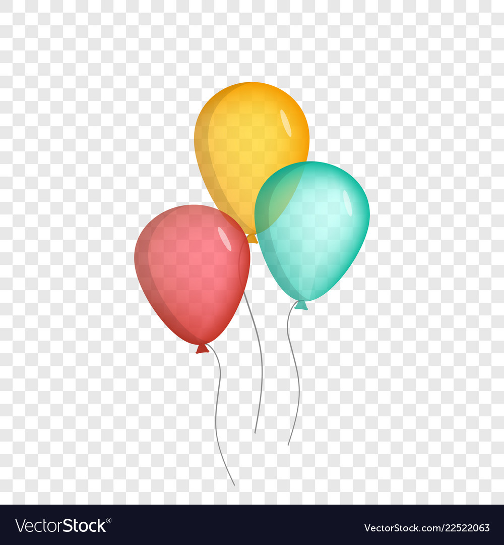 Realistic air balloons set isolated on background