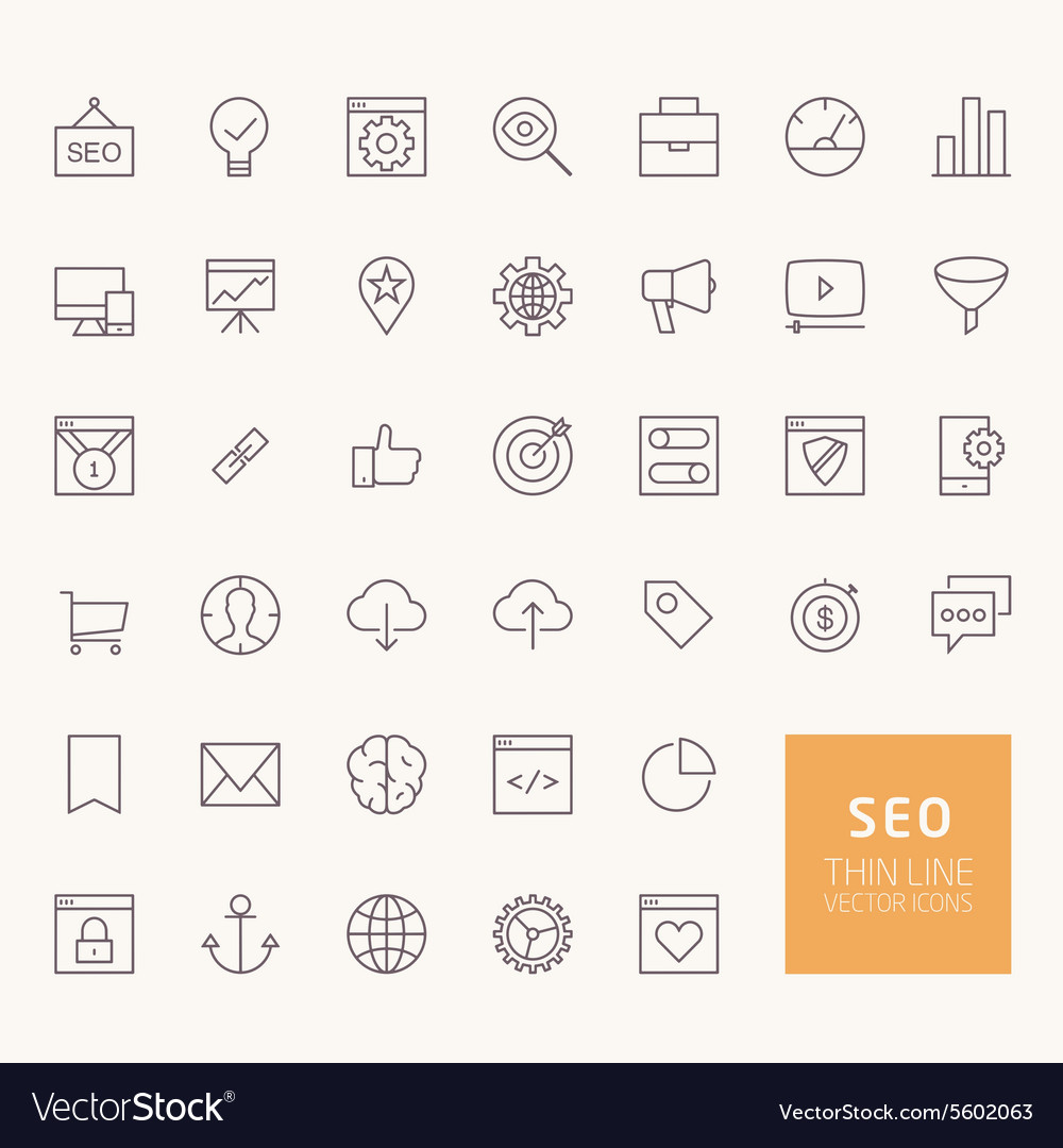 SEO Outline Icons for web and mobile apps