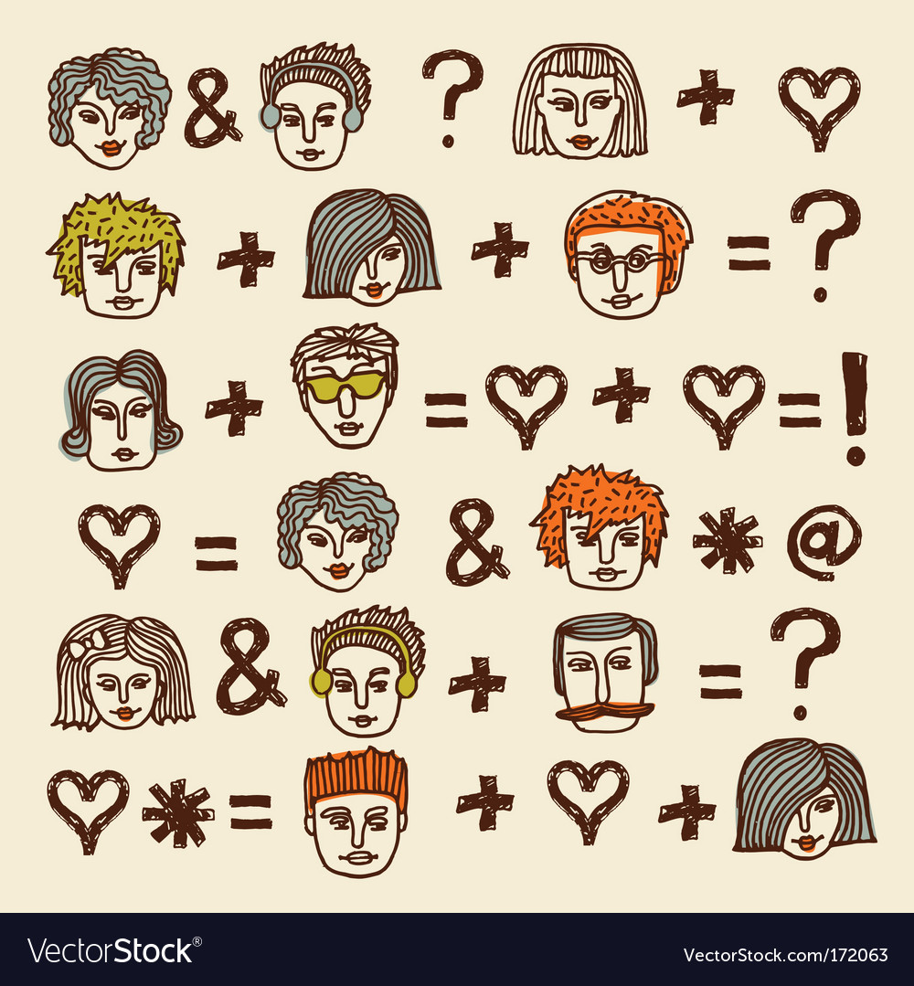 Set of cartoon faces
