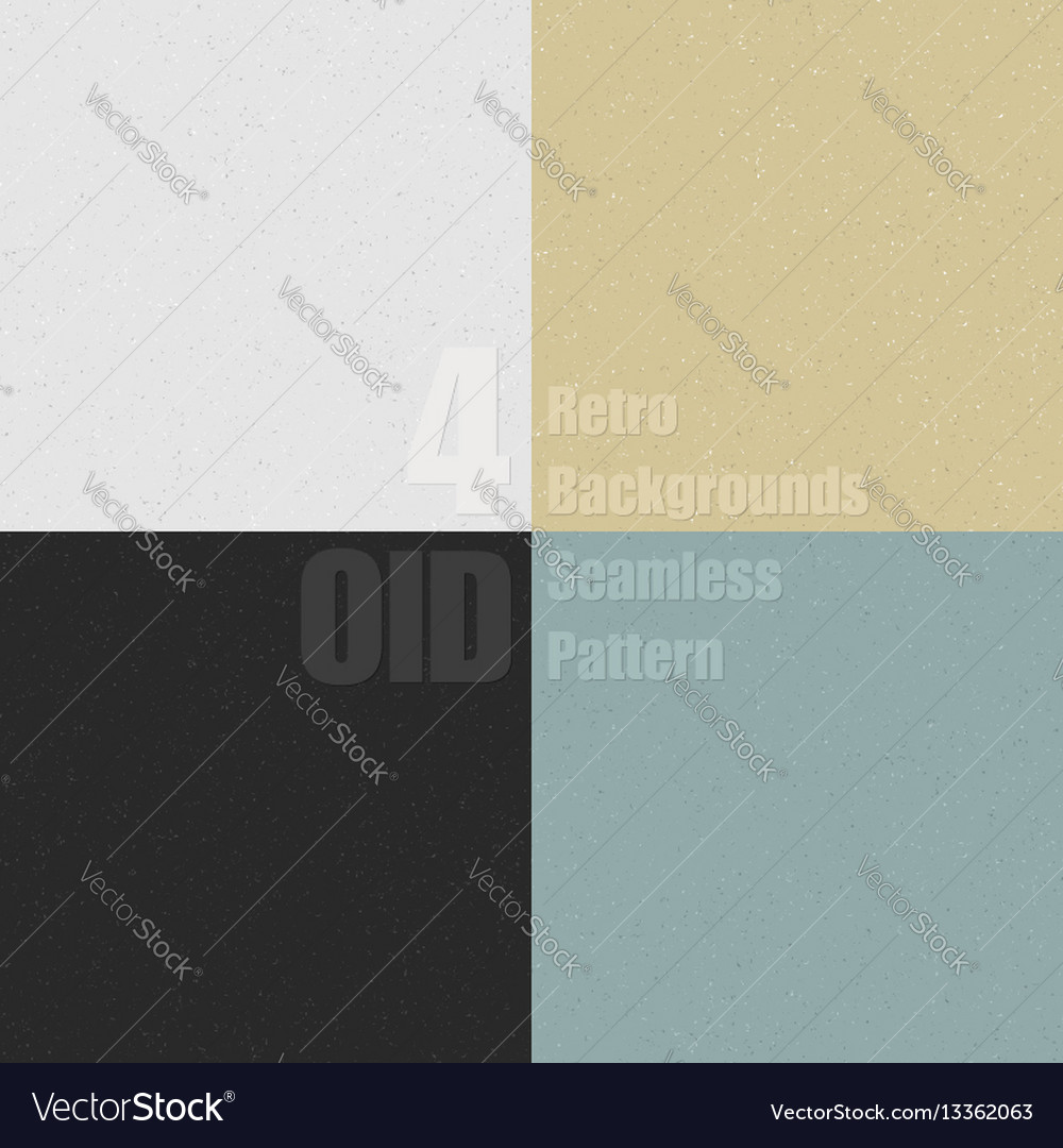 Set old clean seamless pattern with dirty