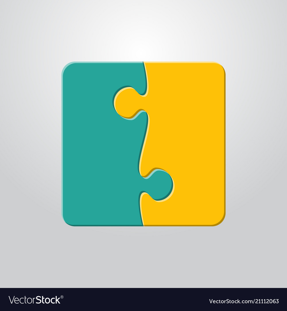 Two piece puzzle 2 step puzzle jigsaw pieces