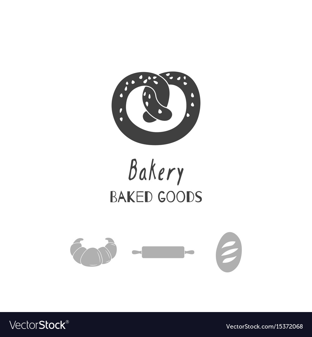 Bakery logo template Royalty Free Vector Image
