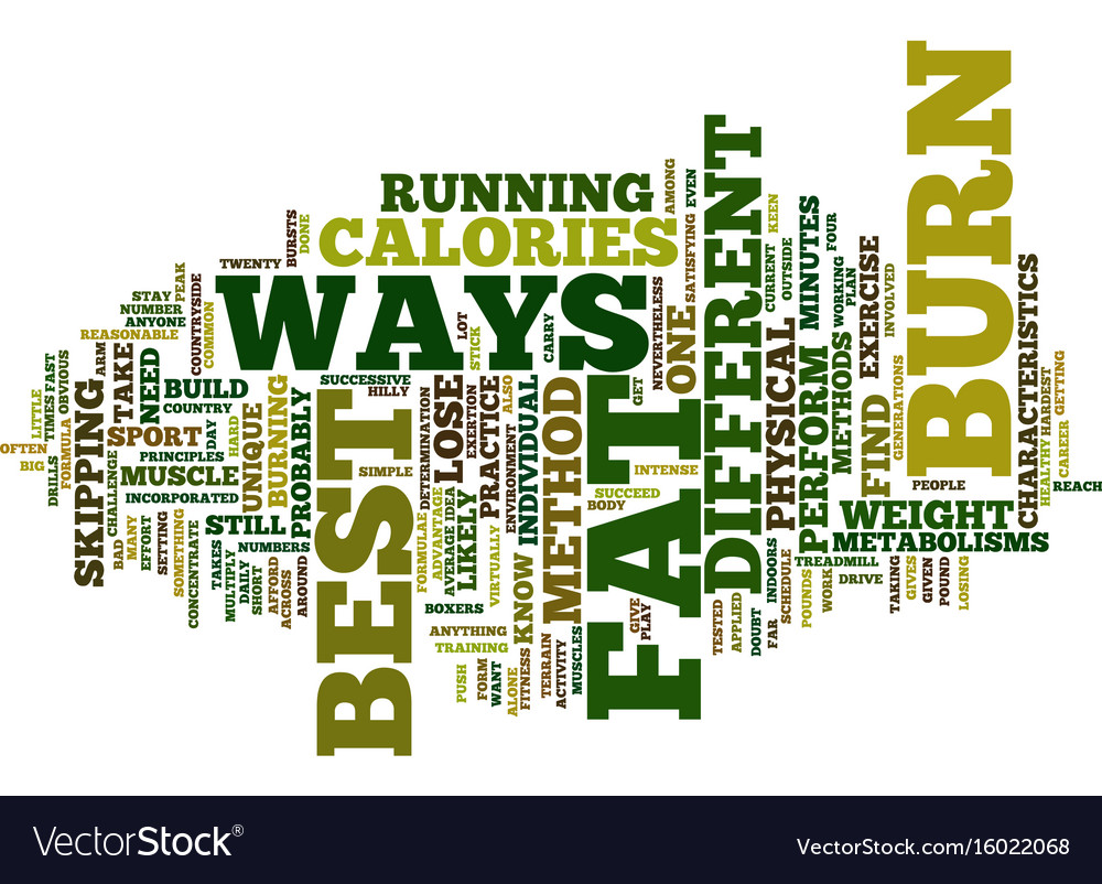 Best ways to burn fat text background word cloud