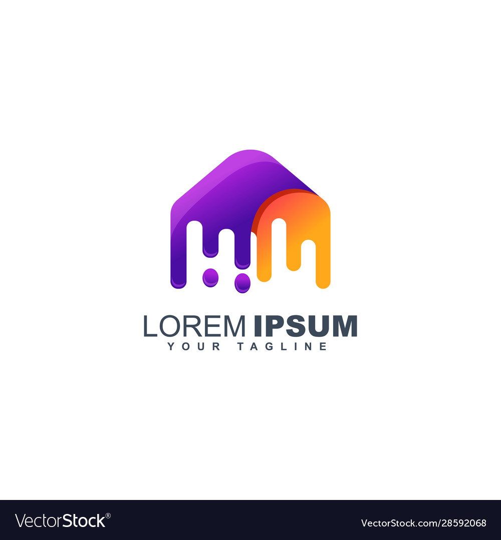 Colorful fluid abstract logo design template