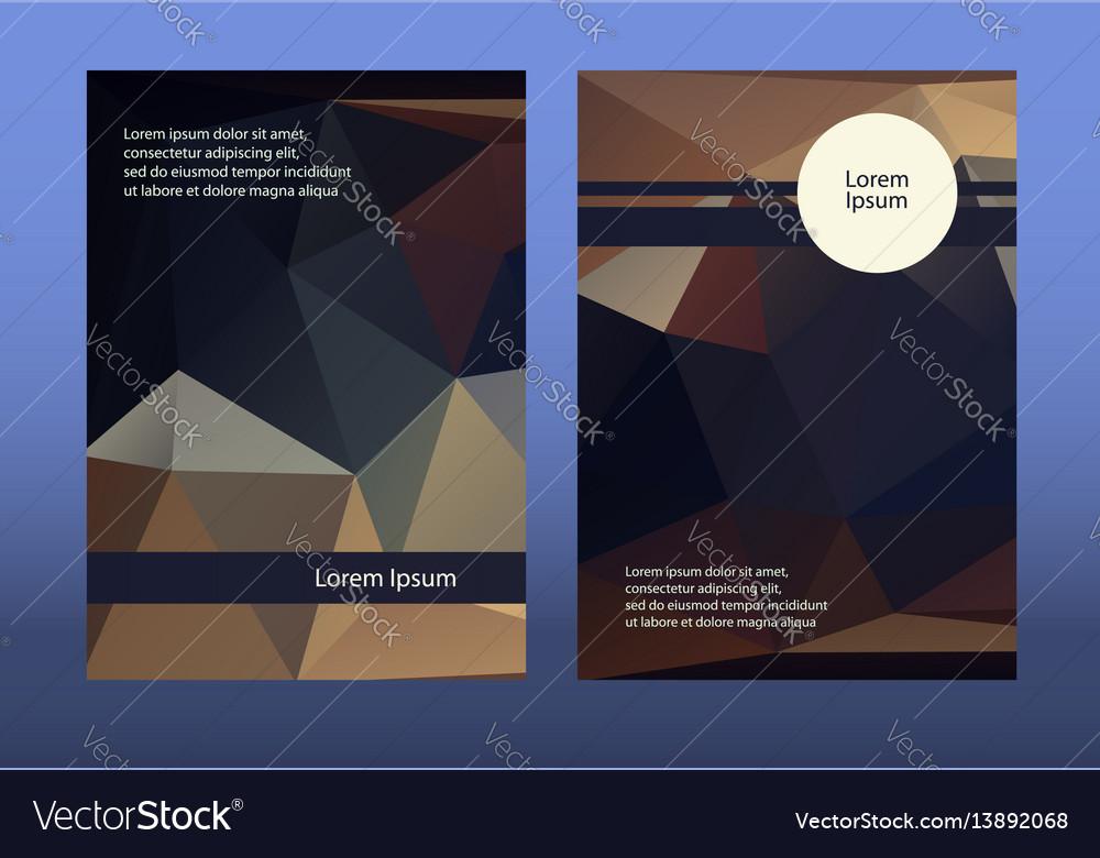 Dark brochure leaflets low vector image