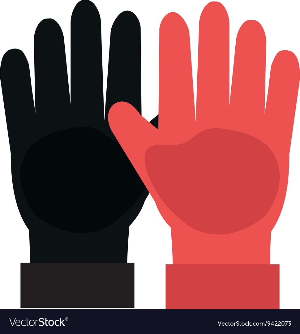 Black and red gloves graphic