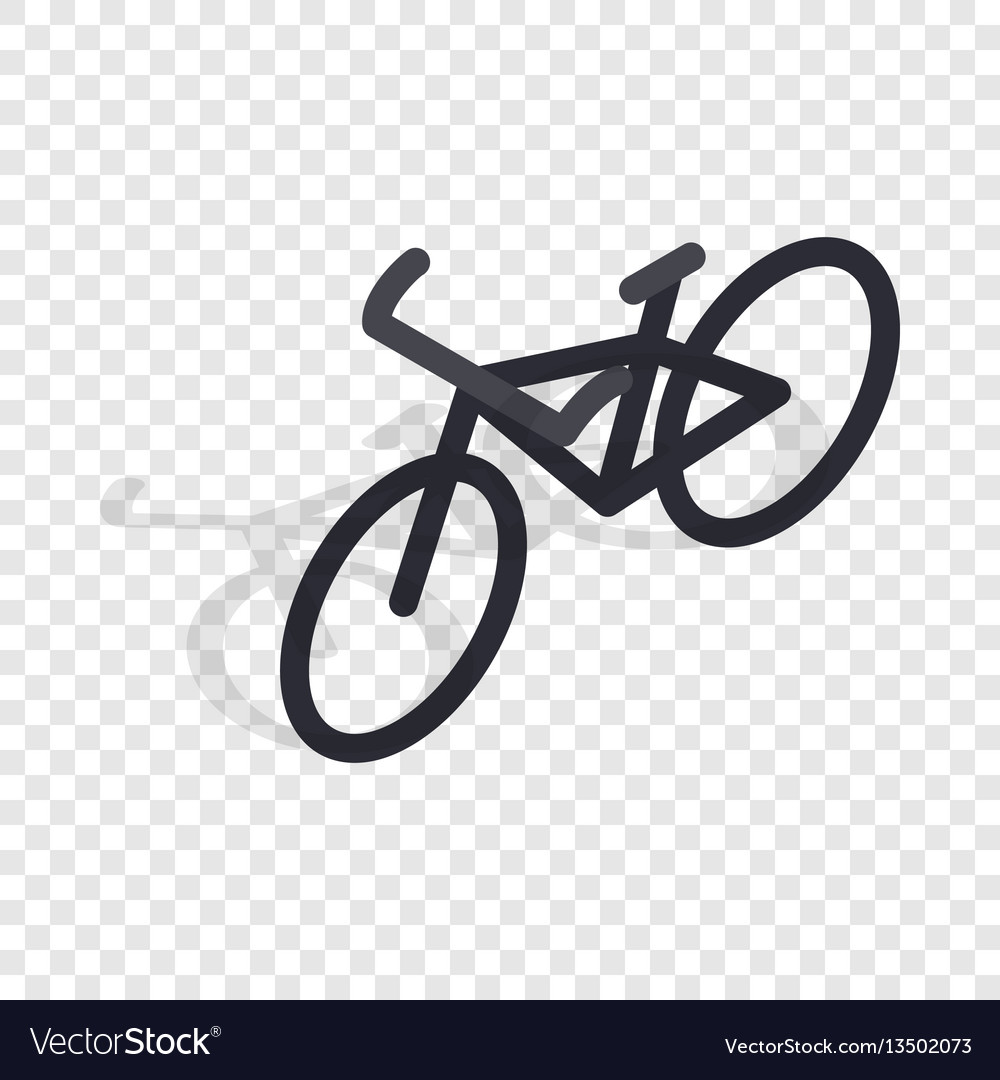 Black bike isometric icon