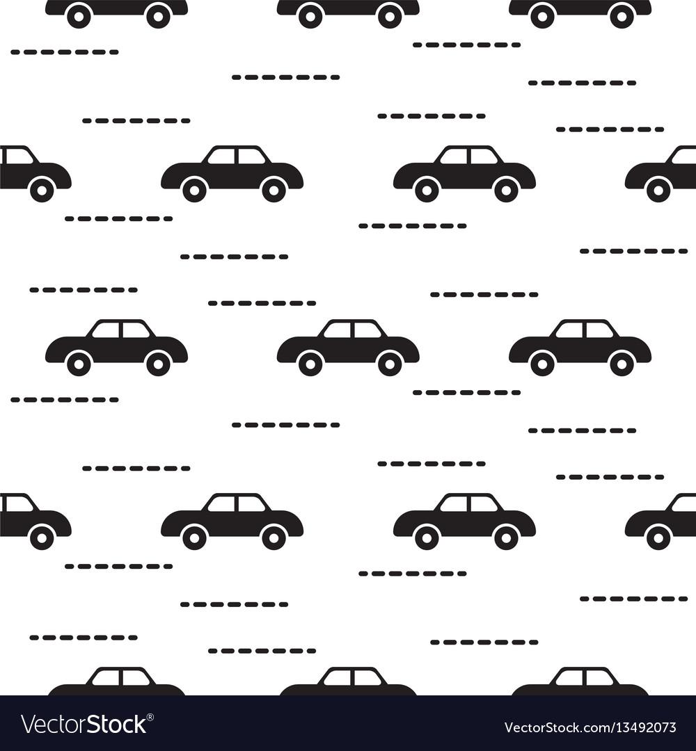 Car cute baby scandinavian seamless pattern