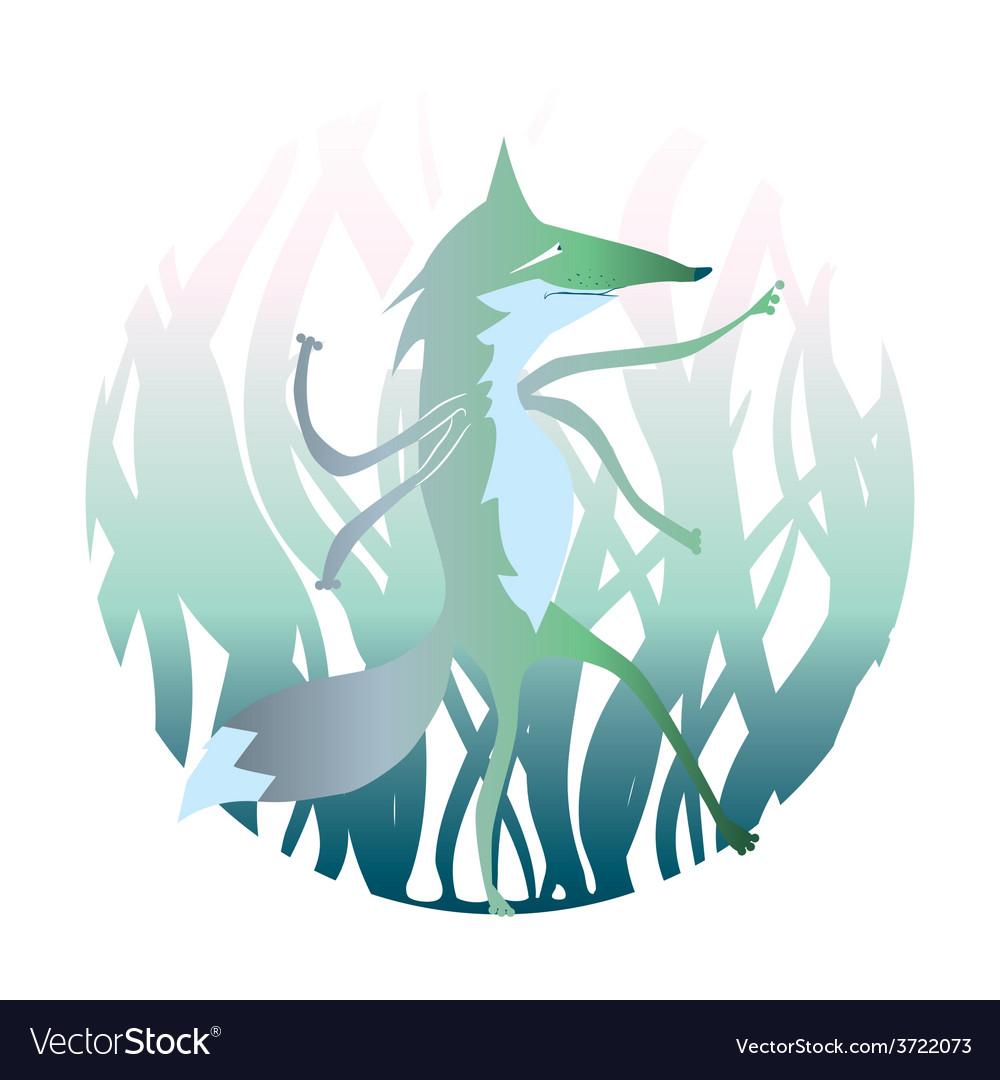 Cartoon werwolf