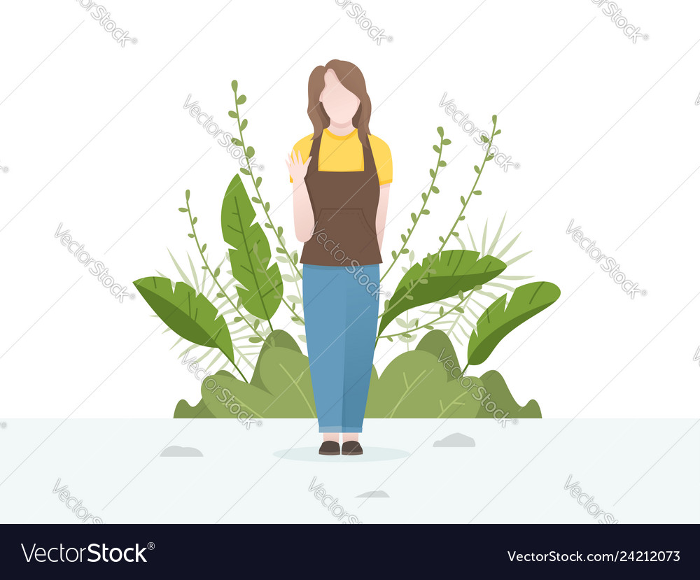Cute of a young women with flower