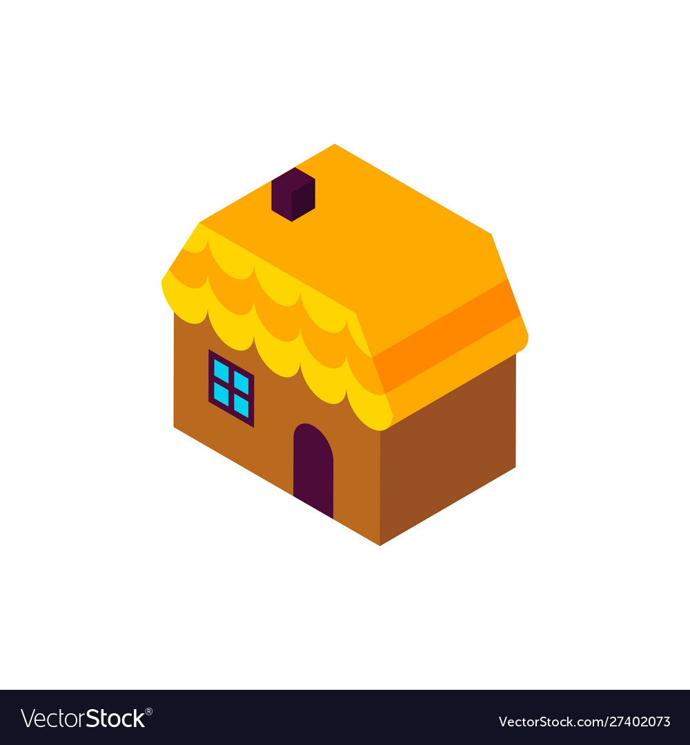 Gingerbread house isometric object
