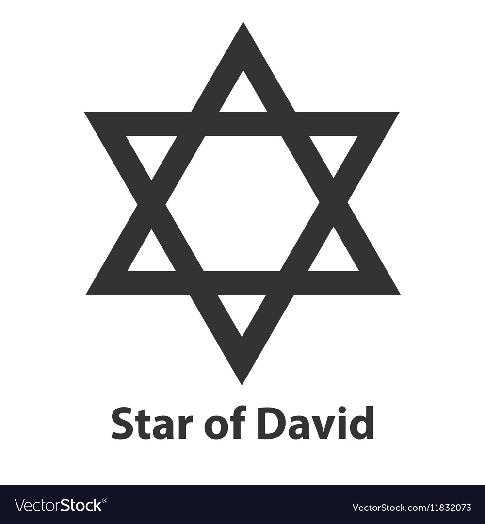 Icon Of Star Of David Symbol Judaism Religion Sign