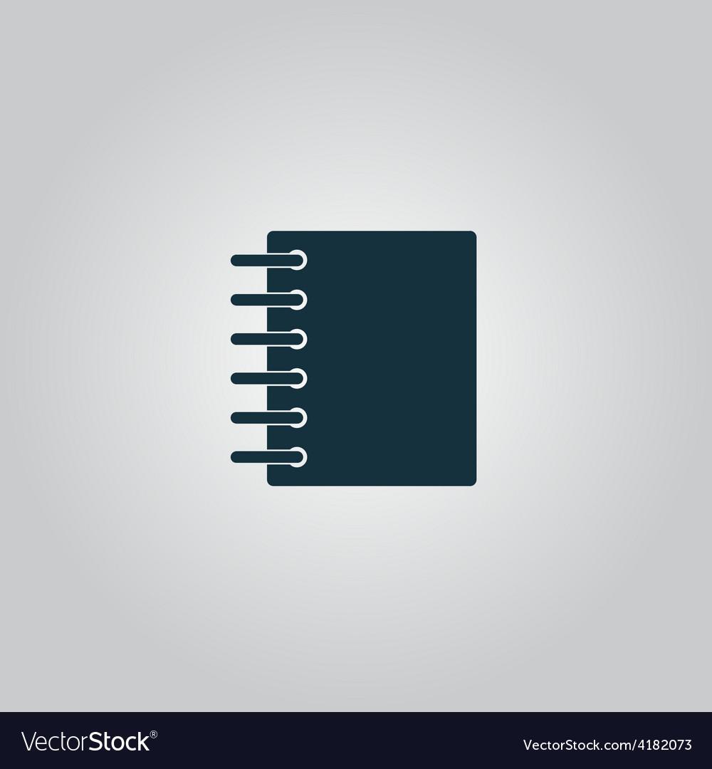 Ring binder calendar notepad - icon vector image