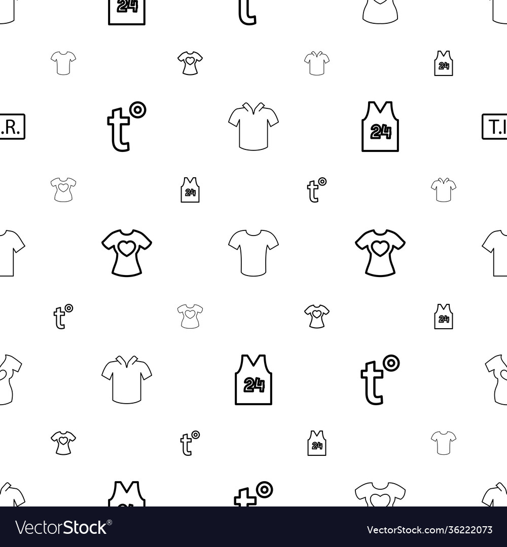 T icons pattern seamless white background