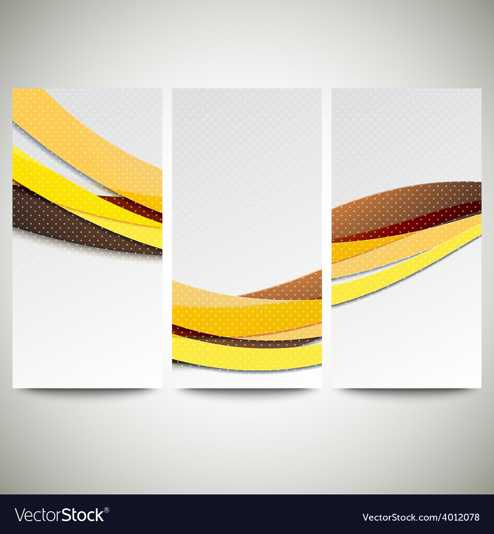 Abstract flyers set wave design