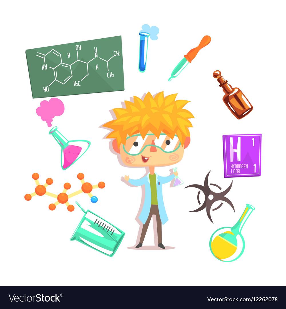 Boy Chemist Kids Future Dream Professional