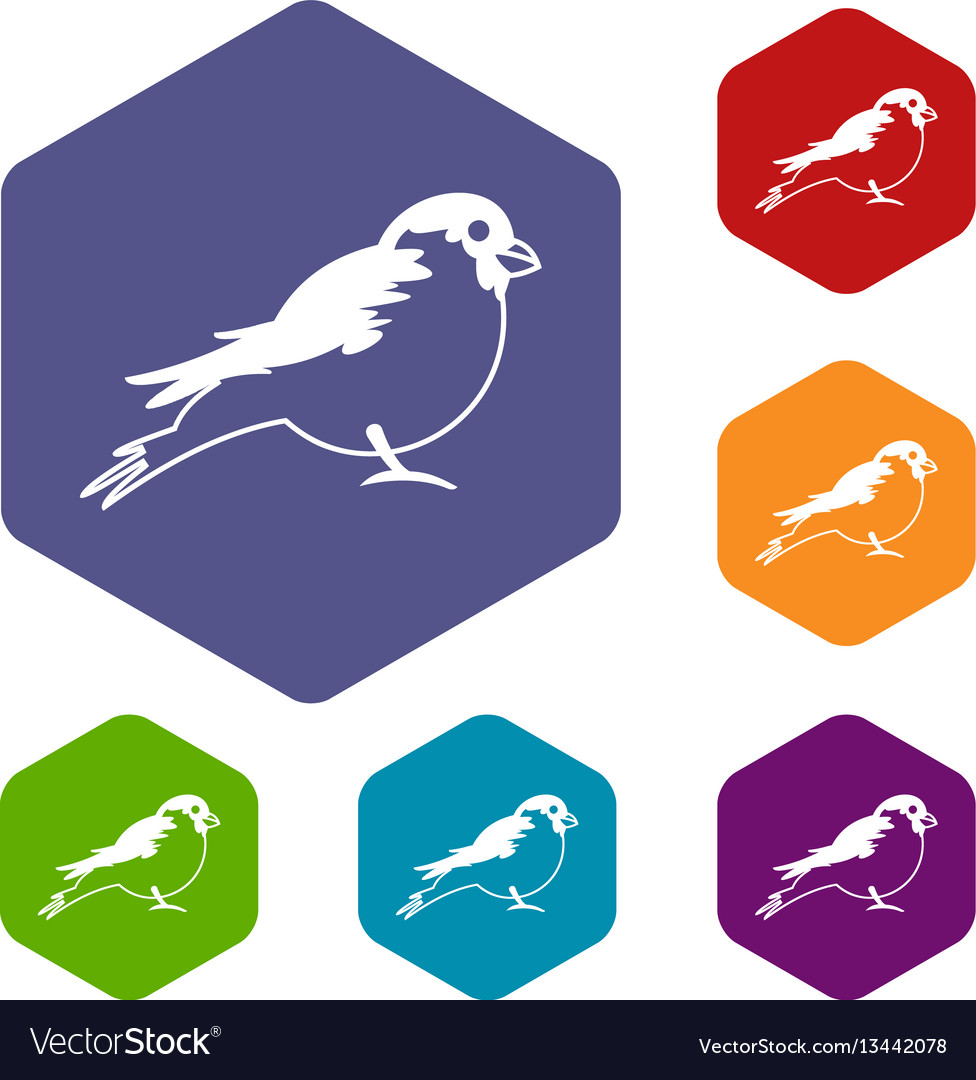 Bullfinch icons set